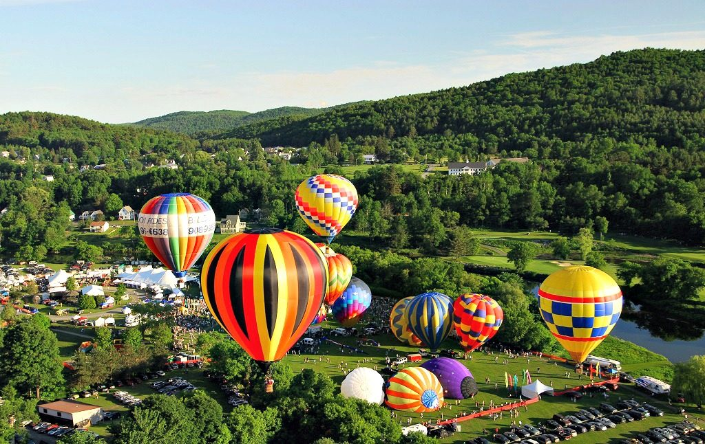 Aerial View of the Quechee Balloon Festival (furnished by HACC)