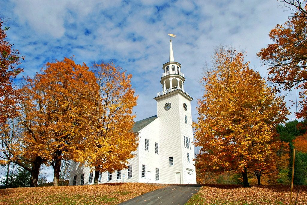 Town Meeting House in Strafford, Vermont